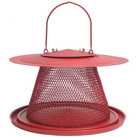 No/No Red Cardinal Bird Feeder C00322, No/No = No plastic, No wood By (Best Squirrel Proof Bird Feeder For Cardinals)