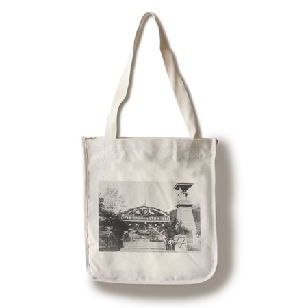 New Almaden, California - View of the Toll Gate at Hacienda (100% Cotton Tote Bag - Reusable) - California Tote Bag