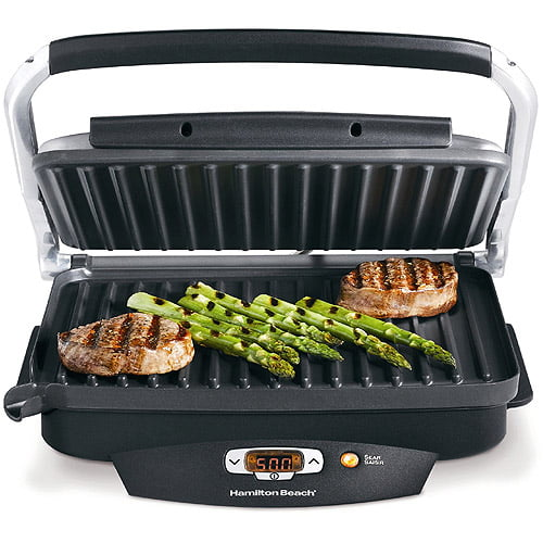 Indoor Electric Grill Walmart ~ Hamilton beach indoor grill with removable grids silver
