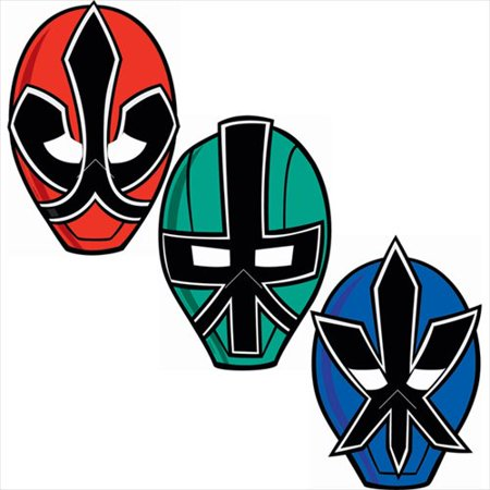 Power Rangers Samurai Paper Masks / Favors (8ct) - Power Ranger Party Supplies