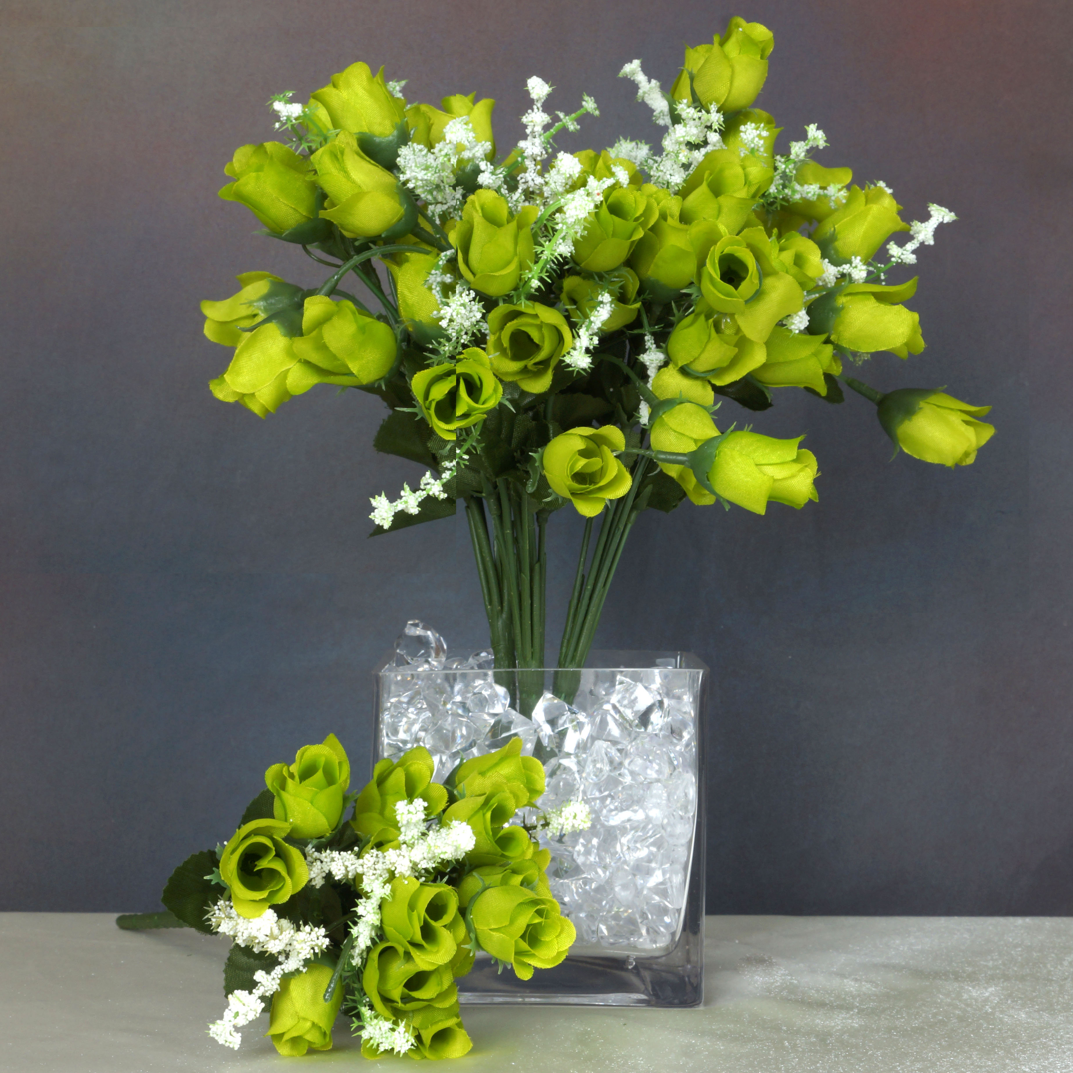 BalsaCircle 180 Mini Silk Roses Buds Flowers - 12 Bushes - DIY Home Wedding Party Artificial Bouquets Arrangements Centerpieces