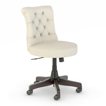 Bush Furniture Key West Mid Back Tufted Office Chair in Cream Fabric ()