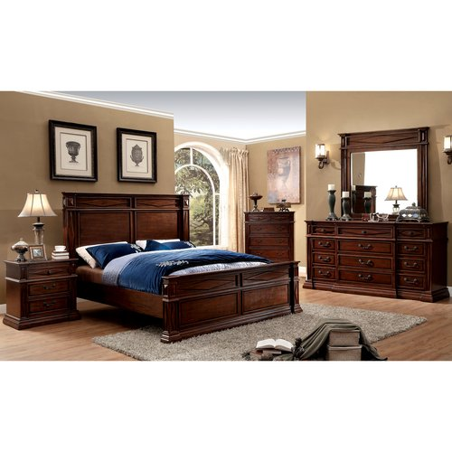 Furniture Of America Roderick 4 Piece Cherry Bedroom Set, Multiple Sizes