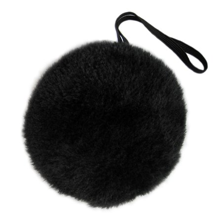 SeasonsTrading Black Plush Bunny Tail - Halloween Bear Easter Rabbit Costume - Black Bear Halloween Costume
