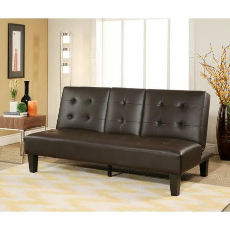 Devon Amp Claire Lexi Brown Convertible Sofa With Storage