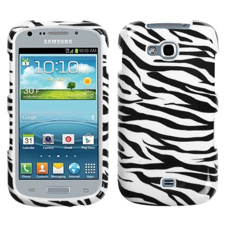 For R830 Galaxy Axiom Zebra Skin Hard Snap On Phone Protector Cover Case