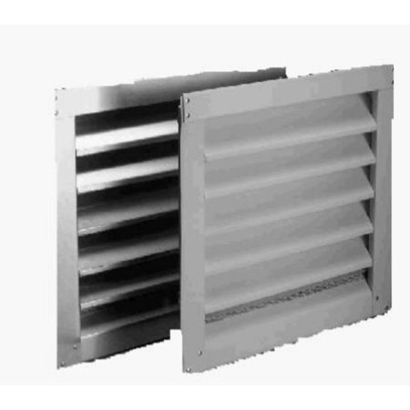 """Air Vent 81202 Attic Aluminum Louver with Screen, 12"""" x 12"""", White"""
