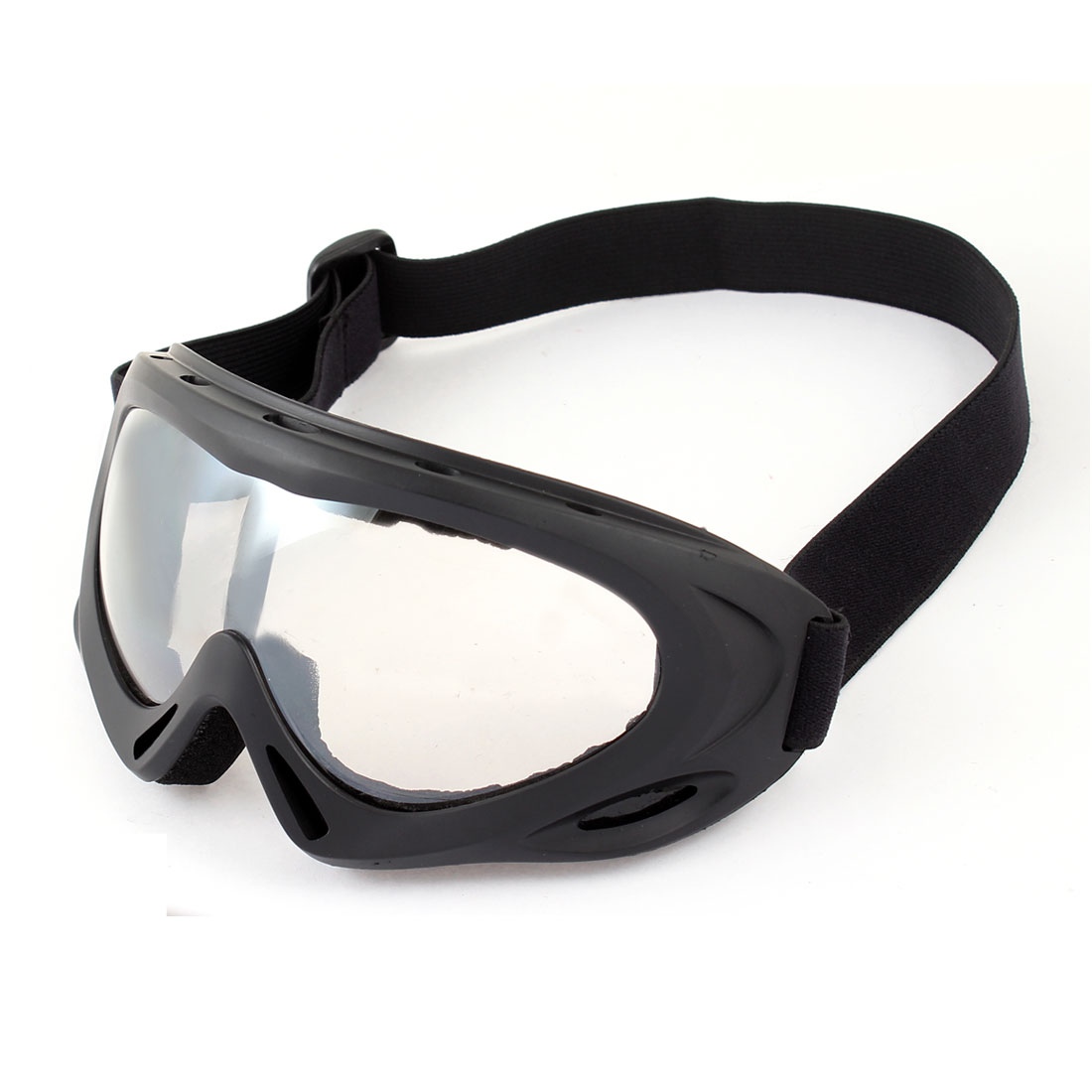 Clear Lens Wide Angle Sand Wind Desert Eyes Protector UNI Goggles Black by