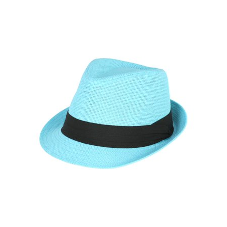 The Hatter Co. Tweed Classic Cuban Style Fedora Fashion Cap Hat (White Felt Fedora)