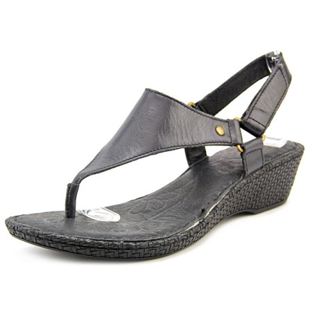 bff24a95fac Born - Born Ardith Women Open Toe Leather Black Wedge Sandal - Walmart.com