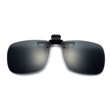 7b54238e51 Newbee - Newbee Fashion - Polarized Clip-On Flip Up Metal Clip Sunglasses  Multi Purpose Flash Polarized Lenses (Glasses not included) - Walmart.com