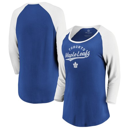 Toronto Maple Leafs Fanatics Branded Women's This Decides It 3/4-Sleeve Scoop Neck T-Shirt - Blue/White