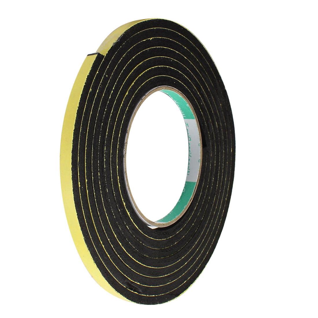 3Meter 8mm x 5mm Single-side Adhesive Shockproof Sponge Foam Tape Yellow Black