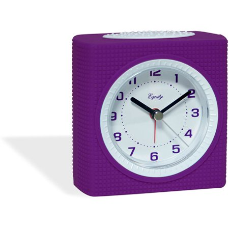 Equity Silent Sweep Analog Alarm Clock  Purple