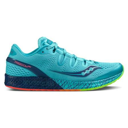 watch c8311 7111f Saucony - Saucony Men s Freedom ISO Running Shoe, Blue Black Citron, 11.5 M  US - Walmart.com