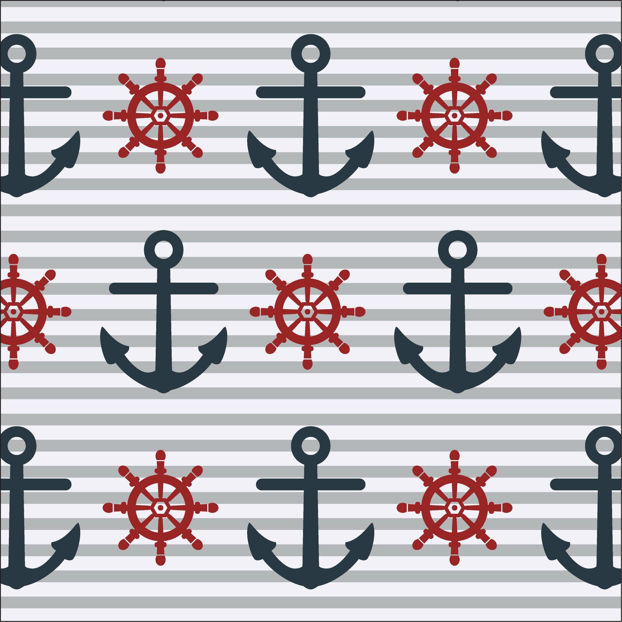 Waverly Inspirations ANCHORS INK 100% Cotton Print fabric, Quilting fabric, Home Decor ,44'', 140GSM