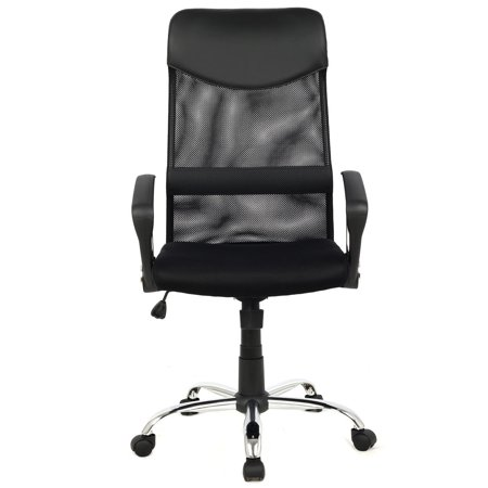 GHP Black 264Lbs Capacity Mesh High Back Executive Office Pneumatic Swivel Task Chair Back Pneumatic Swivel Chair