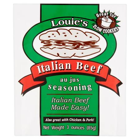 Louie's Seasoning Italian Beef Seasoning, 3 ounces, 12 (Best Italian Beef Sandwich)