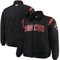 Arizona Diamondbacks Majestic Big & Tall On-Field Premier Full-Zip Jacket - Black