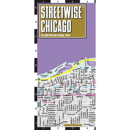 Streetwise chicago map - laminated city center street map of chicago, illinois - folded map: (Map Of Far Western Suburbs Of Chicago)