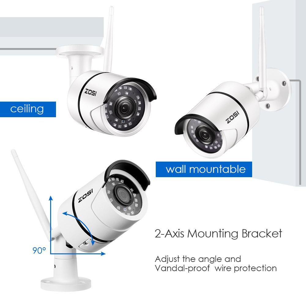 ZOSI Outdoor 1080P HD WiFi Wireless IP Security Bullet Camera