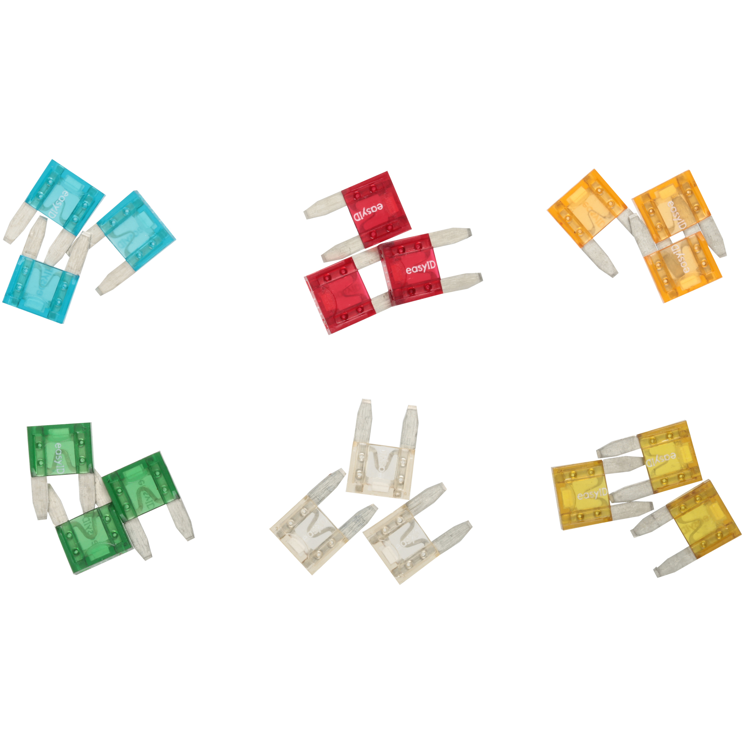Cooper Bussmann® EasyID™ ATM Illuminating Blade Fuses 16 ct Carded Pack