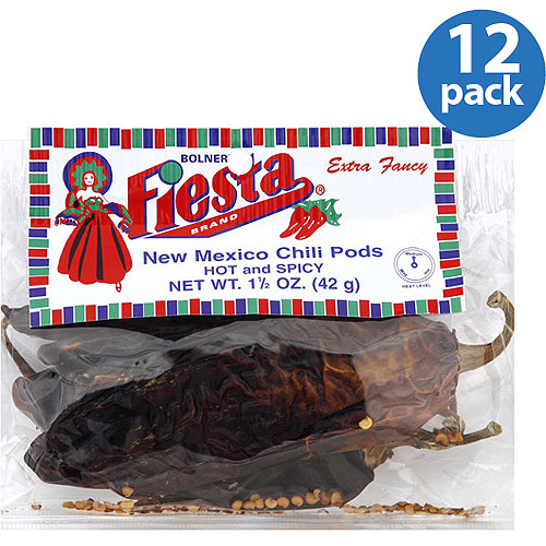 Bolner's Fiesta Brand New Mexico Chili Pods, 1.5 oz, (Pack of 12)