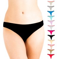 Alyce Intimates Women's Cotton Thong Panty, Pack of 12