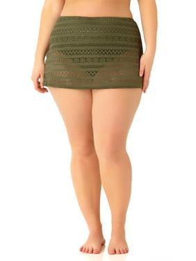 e4e8ad94f27 Product Image Catalina Women s Plus Size Green Crochet Skirted Swim Bottom