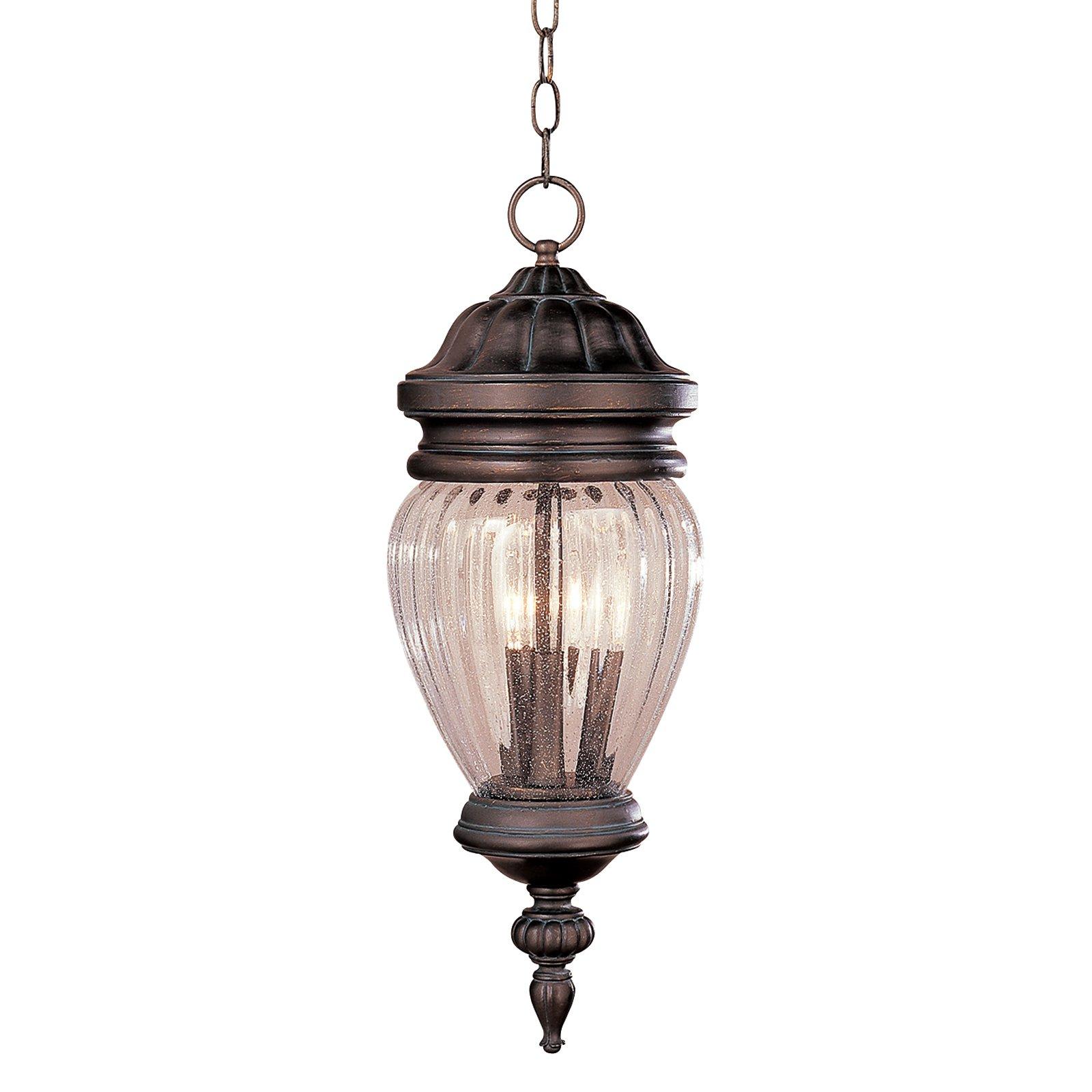 Bel Air Johnson Lake Outdoor Hanging Light - 21.75H in.-Antique Pewter