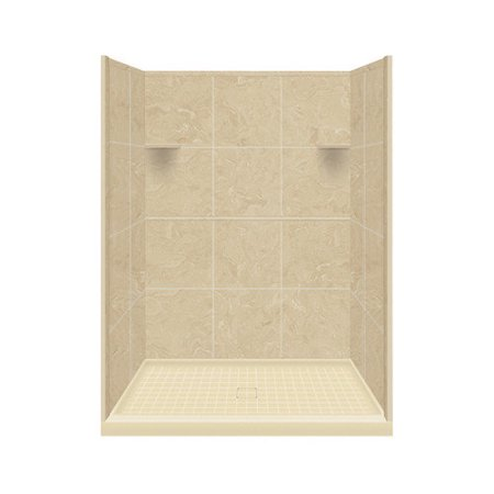 Samson Solid Surface Three Panel Shower Wall Kit Walmart Com