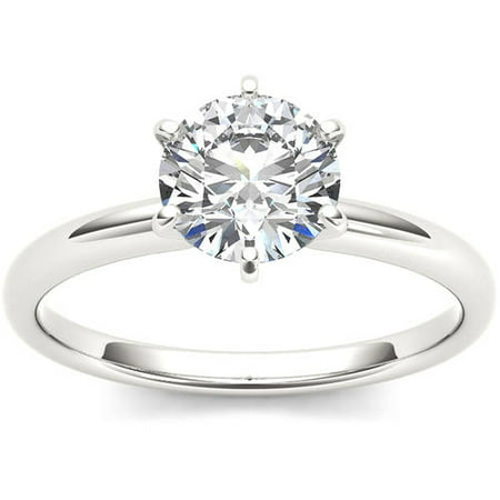 1 Carat T.W. Diamond Six-Prong Solitaire 14kt White Gold Engagement Ring