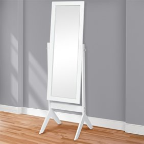 Legacy Decor Swivel Full Length Wood Cheval Floor Mirror, Oak Finish ...
