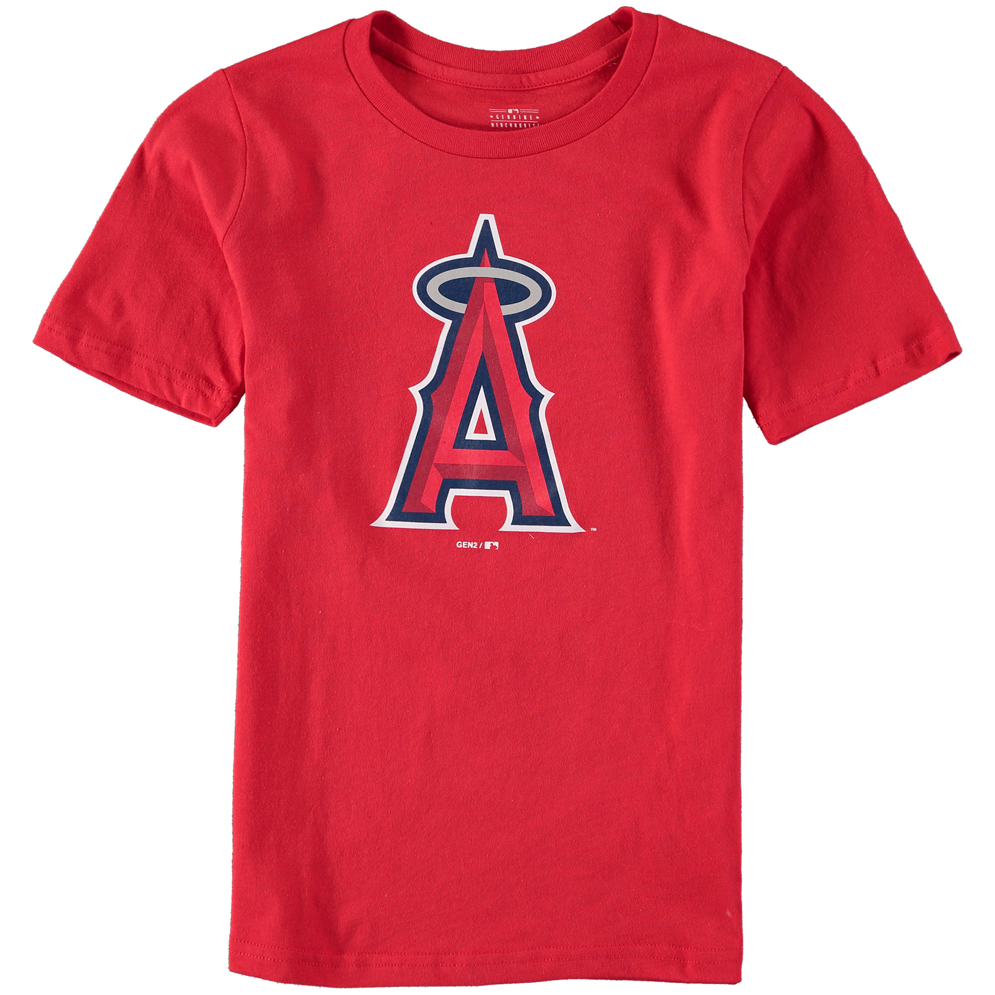 Los Angeles Angels Youth Primary Logo T-Shirt - Red