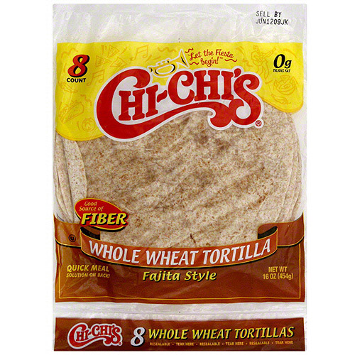 Chi-Chi's Whole Wheat Fajita Style Tortillas, 8ct (Pack of 12)