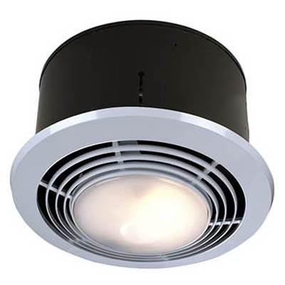 Broan Nutone 9093WH Bathroom Heat / Fan / Light / Night Light With Switch