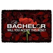 Bachelor Rose Petals Woven Throw White 48X80