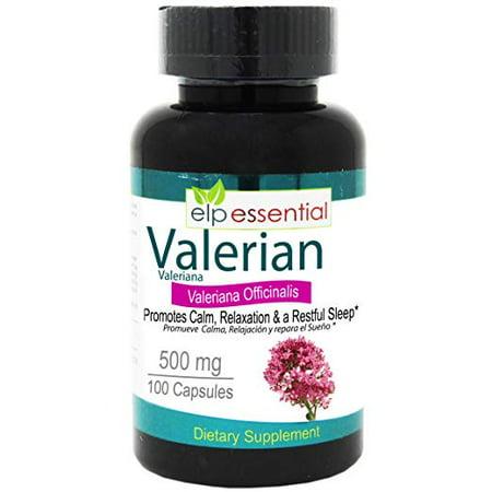 Valerian Root Valeriana officinalis 500 mg 100 Capsules