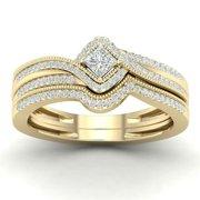 Women's Moisite Rose Gold Plated Lingering Diamond Ring