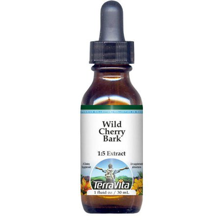 Wild Cherry Bark Glycerite Liquid Extract (1:5) - No Flavor (1 oz, ZIN: 523246) - 3-Pack Blend Wild Cherry Flavor