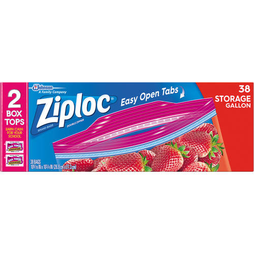 Ziploc Pinch & Seal Storage Bags, Gallon, 38 Ct