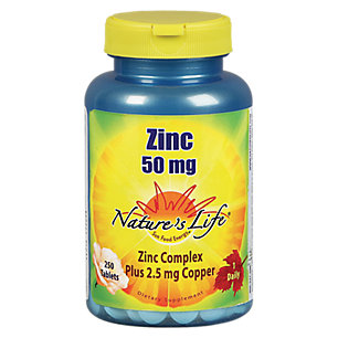 Nature's Life Zinc Tablets, 50 Mg, 250 Count