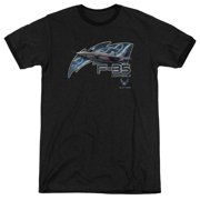 Air Force F35 Mens Adult Heather Ringer Shirt