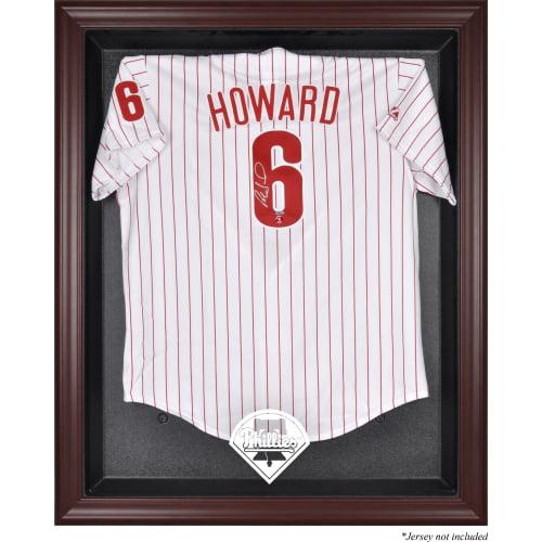 Philadelphia Phillies Fanatics Authentic Mahogany Framed Logo Jersey Display Case - No Size