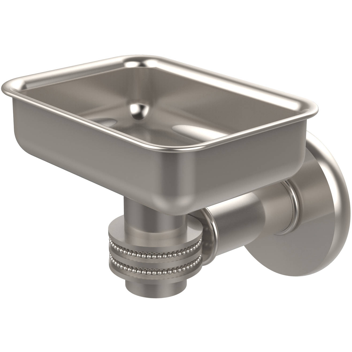 Continental Collection Wall-Mounted Soap Dish Holder with Dotted Accents