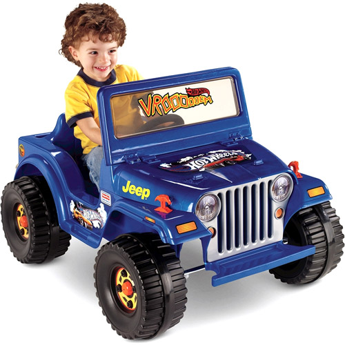 Fisher Price Power Wheels Blue Hot Wheels Jeep 6 Volt