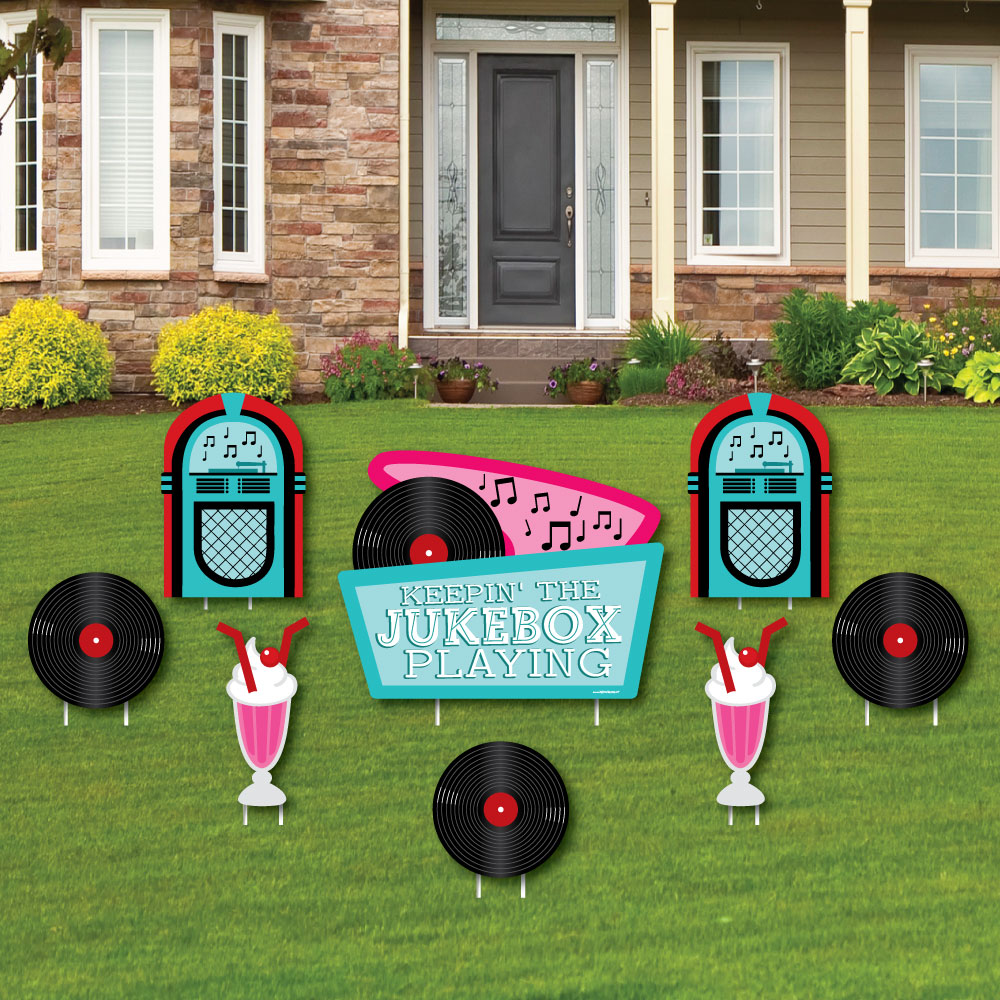Big Dot of Happiness 50's Sock Hop - Yard Sign & Outdoor ...
