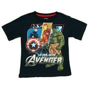 The Avengers Split Panels Logo Marvel Comics Superhero Juvenile T-Shirt Tee