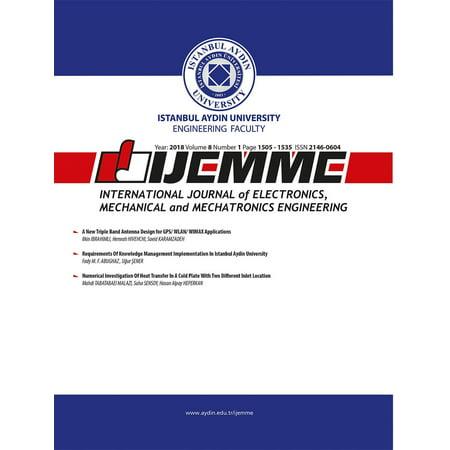 International Journal of Electronics, Mechanical and Mechatronics Engineering (IJEMME) - (International Journal Of Mechanical & Mechatronics Engineering)
