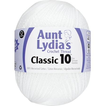 - Aunt Lydia's Classic Crochet Thread Size 10 Jumbo-White